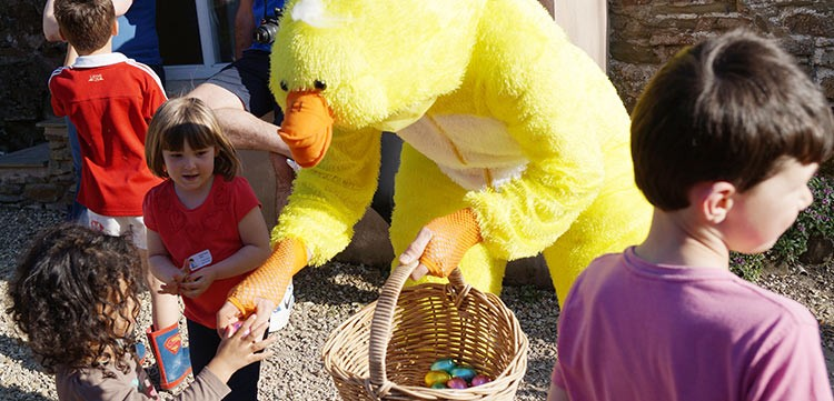 Easter at North Hayne Farm with Big Yellow